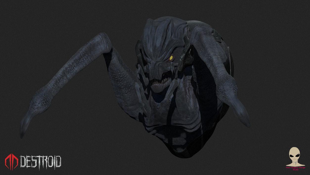"Alien spider/scorpion for ""Destroid"" (close up)"
