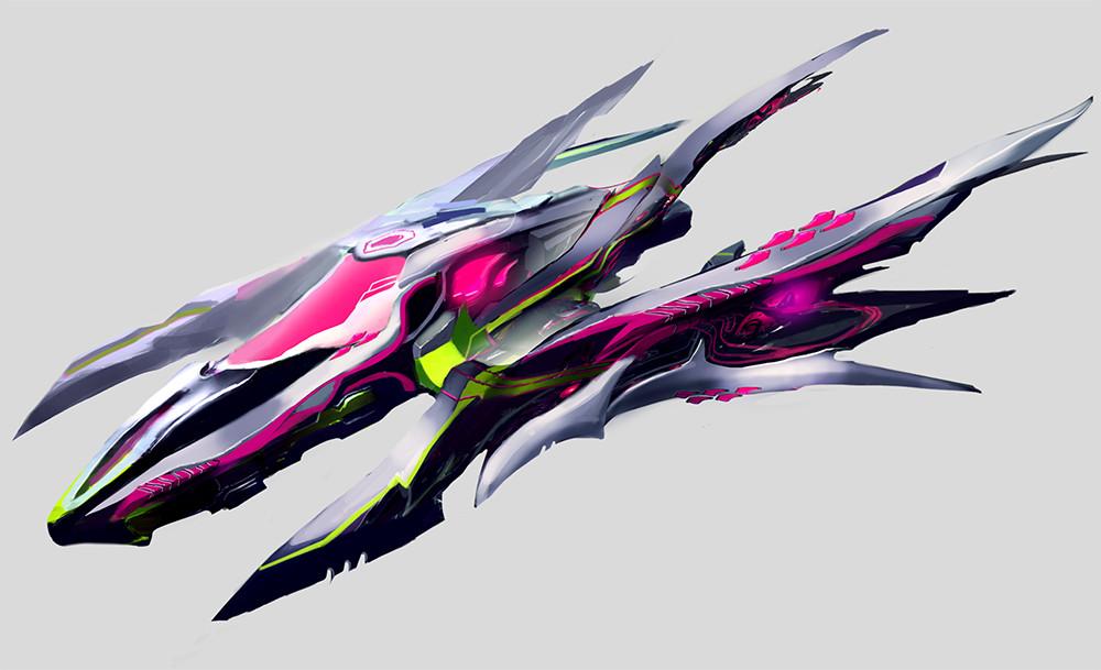 Eugene Vasjukov Sci Fi Ships Designs