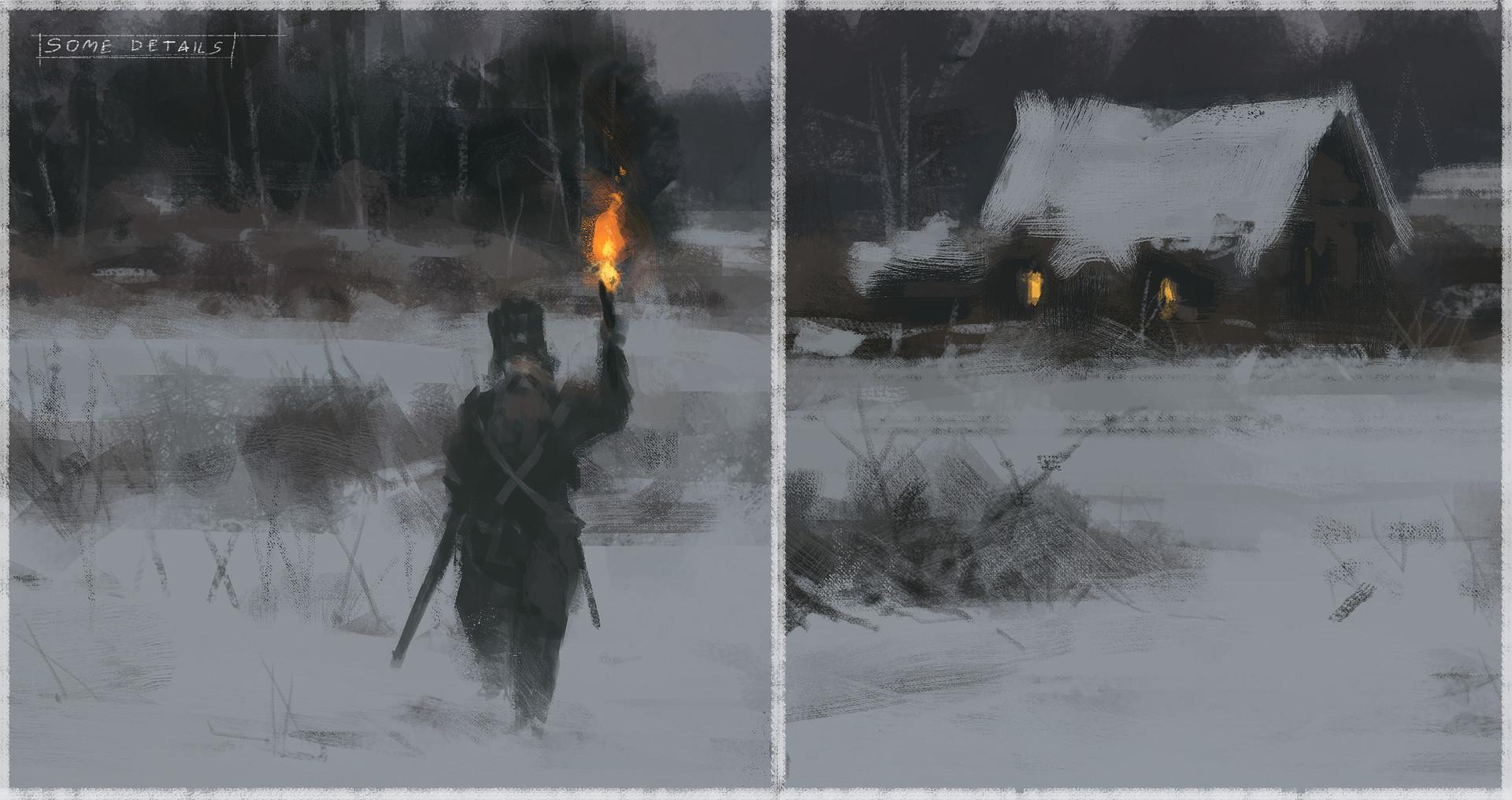 Jakub rozalski wolfpack hunt01 14112016 process05