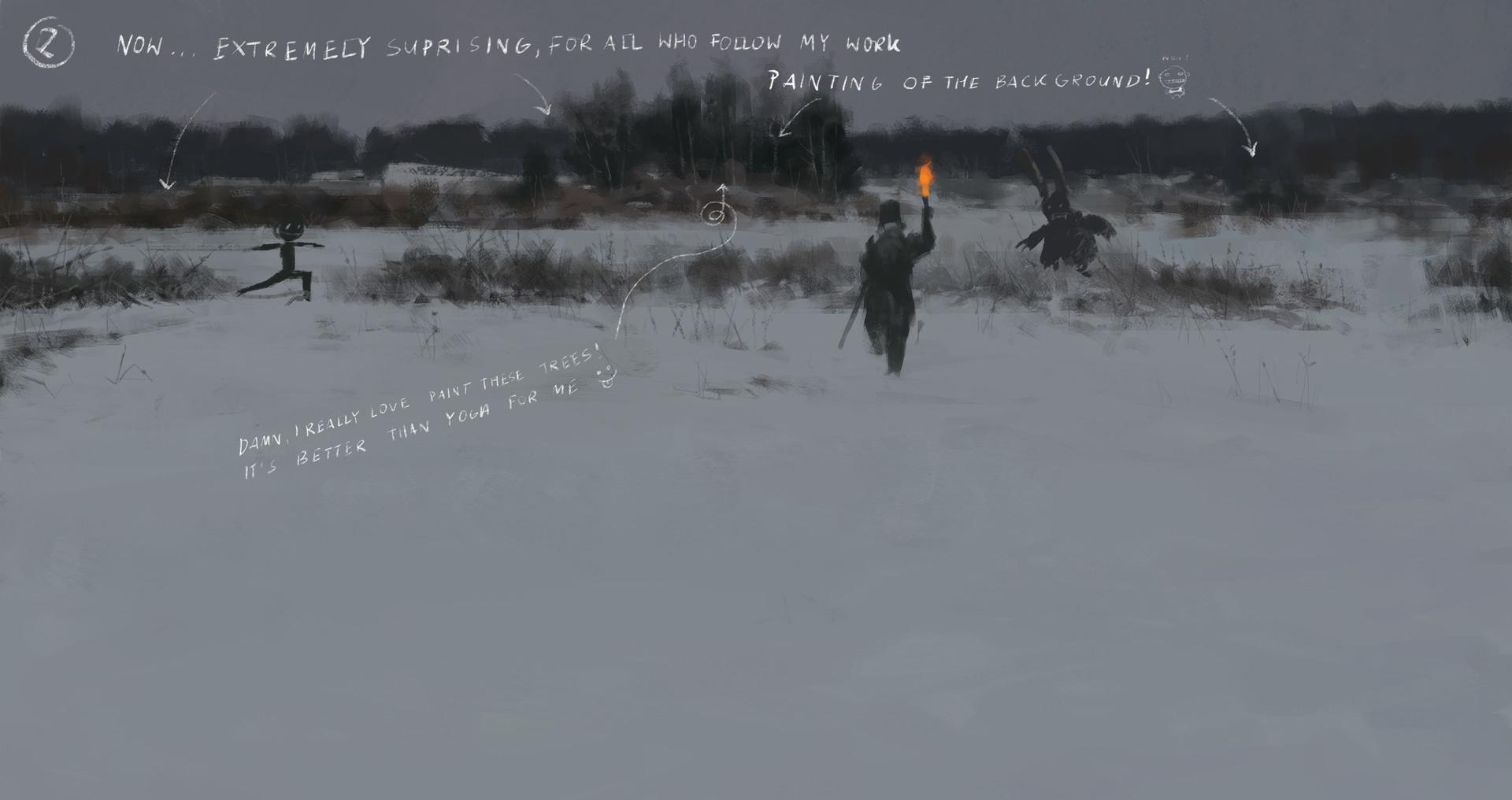 Jakub rozalski wolfpack hunt01 14112016 process02