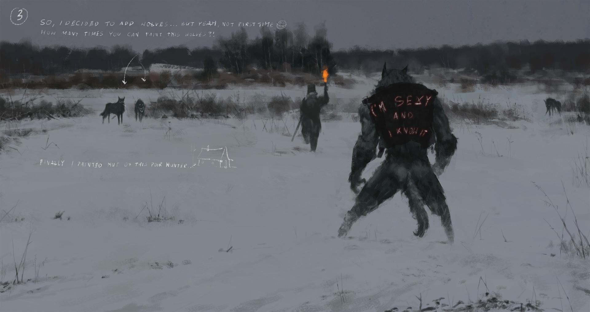 Jakub rozalski wolfpack hunt01 14112016 process04