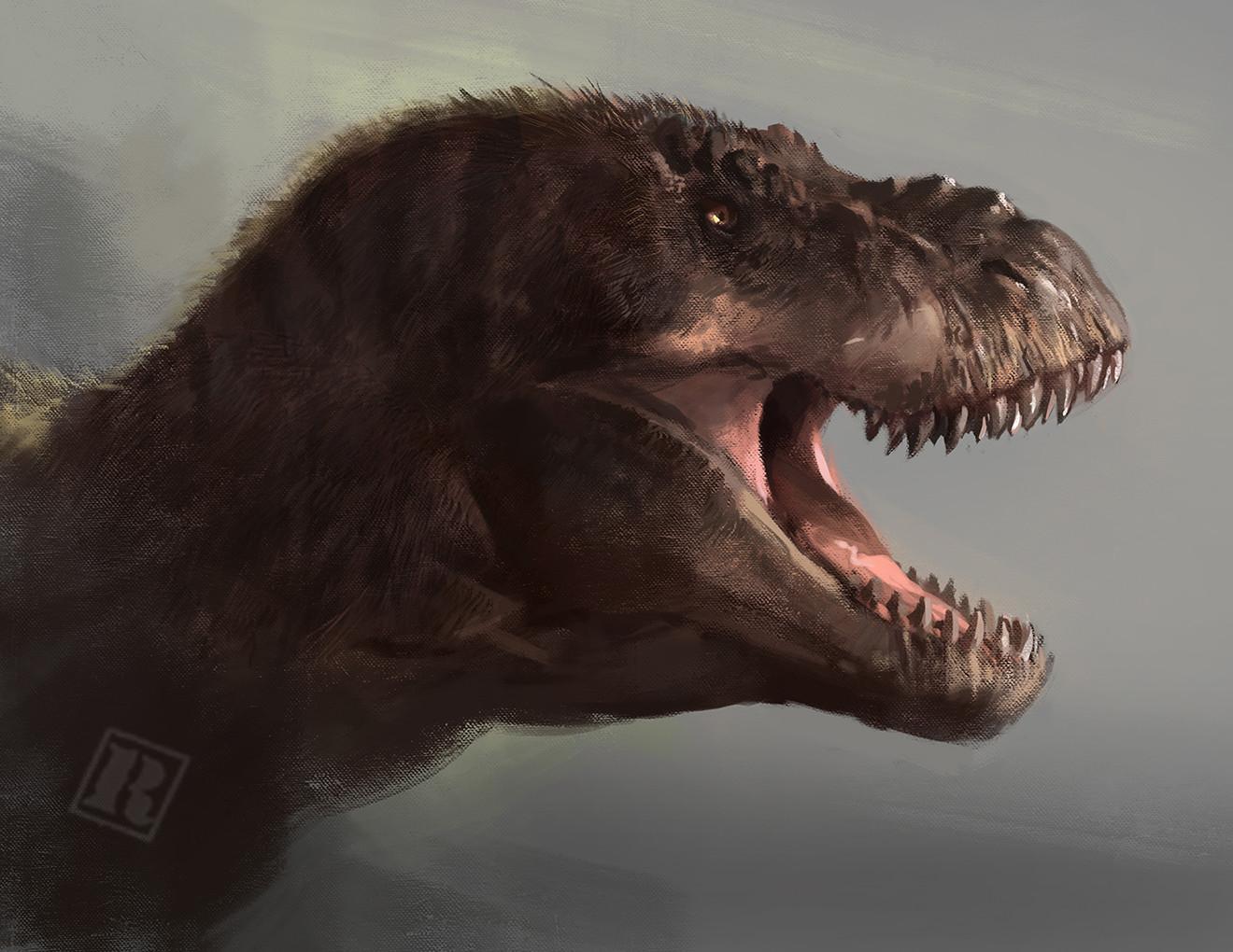 Jurassic Park rex (fluffed)