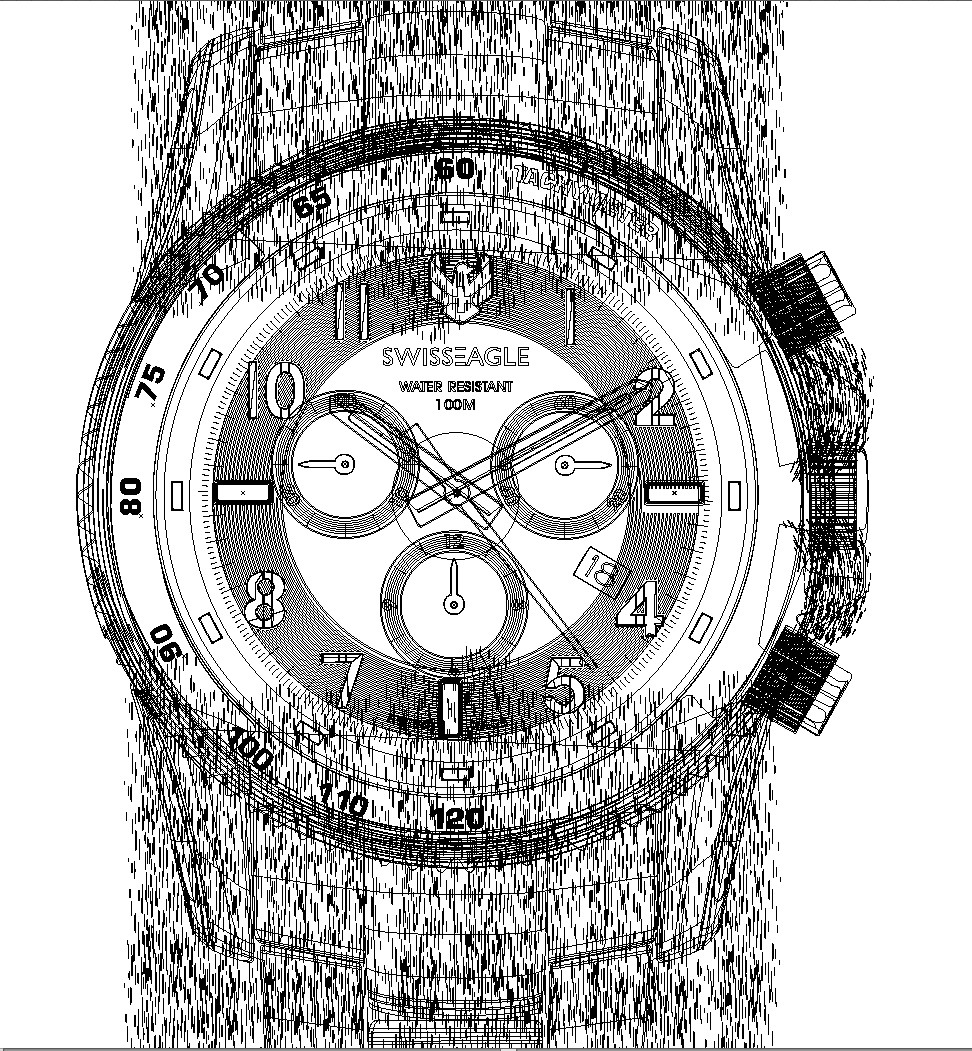 Rajesh sawant swiss eagle watch wire frame