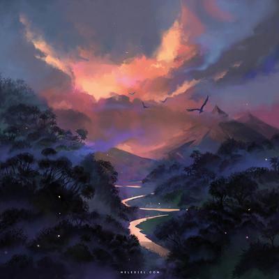 Nele diel red dusk