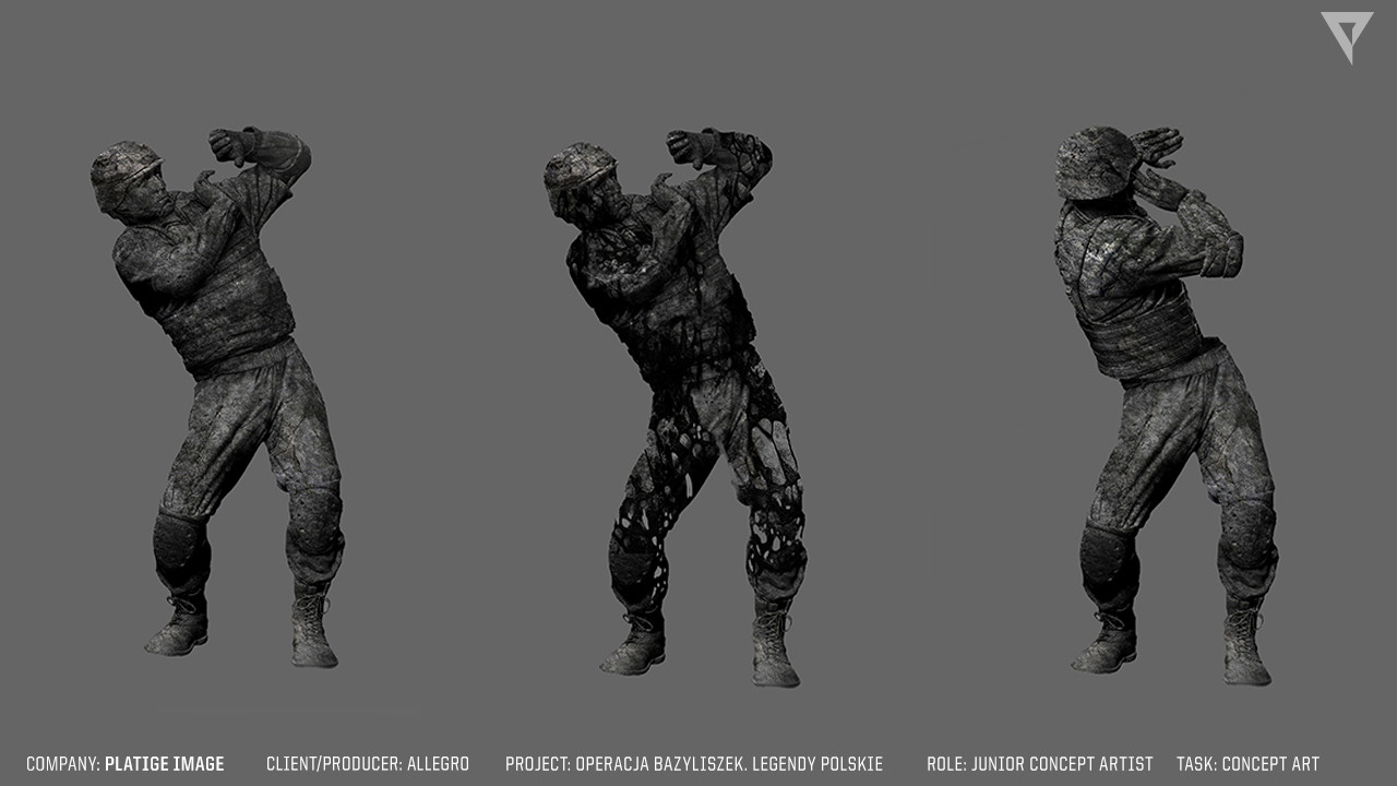 Stone figures concept. Operation Bazyliszek