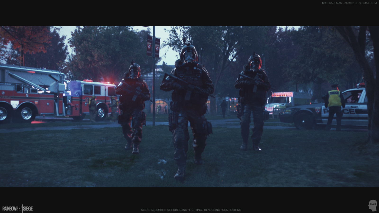 Rainbow 6 Siege: Set Dressing / Lighting / Rendering / Compositing