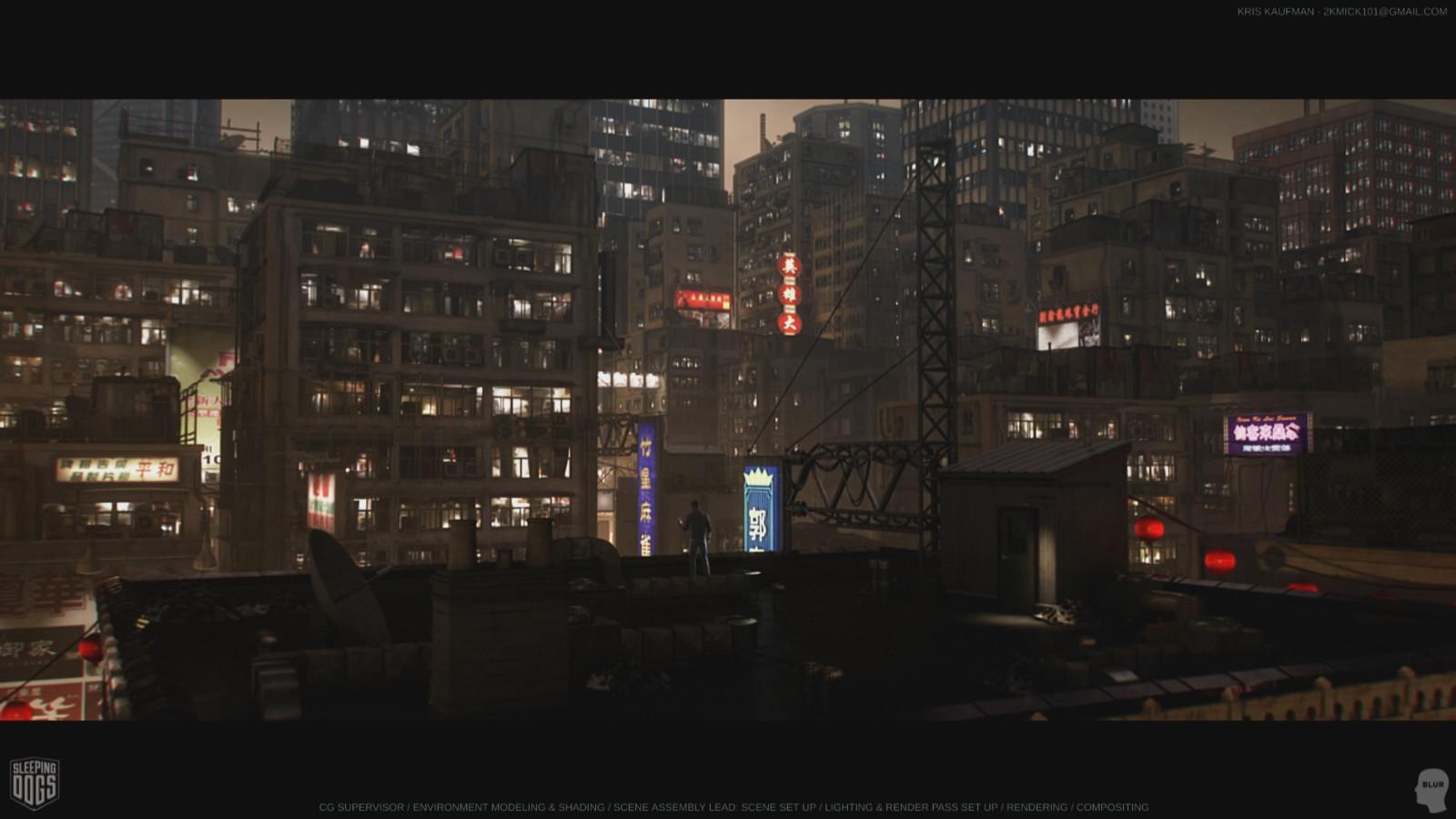 Sleeping Dogs: CG Sup / Look Development / Environment Modeling & Shading / Lighting / Rendering / Compositing