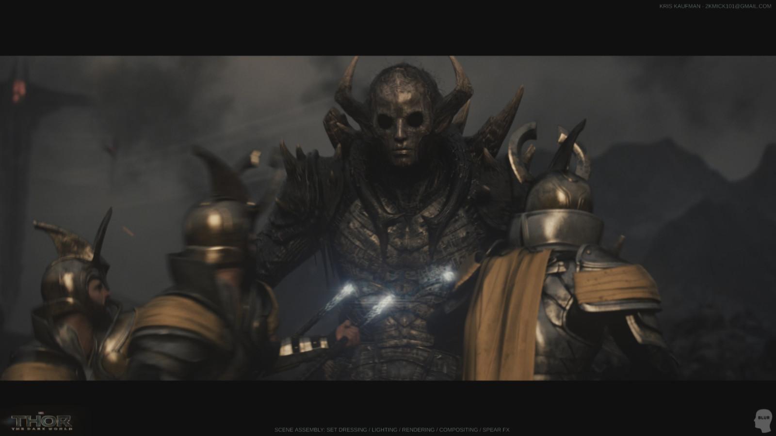Thor: The Dark World: Set Dressing / Lighting / Rendering / Compositing
