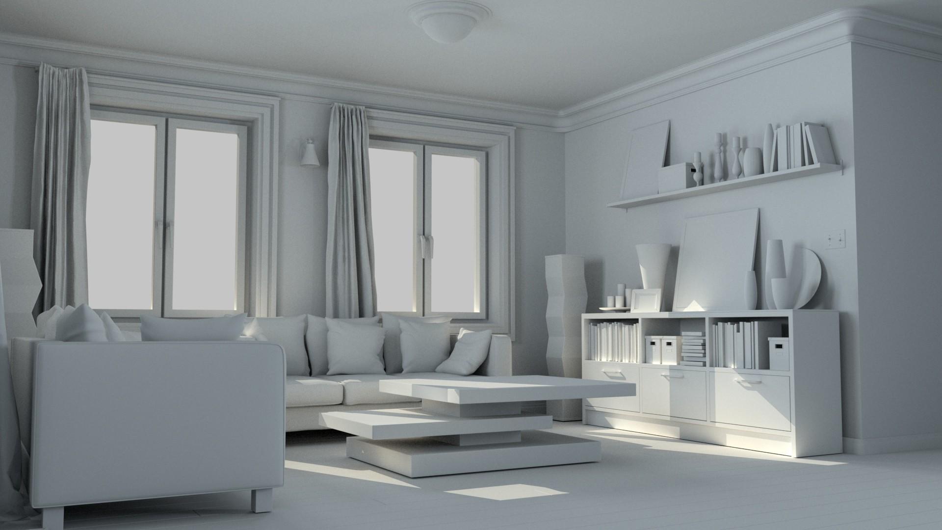 Richard christensen interior day night arnold render for Cinema 4d architektur
