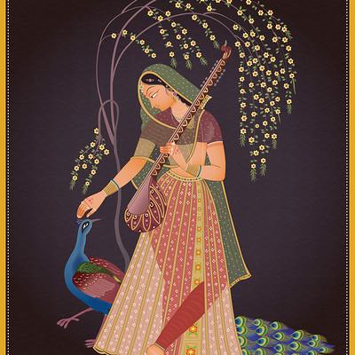 Rajesh sawant radha miniature 01