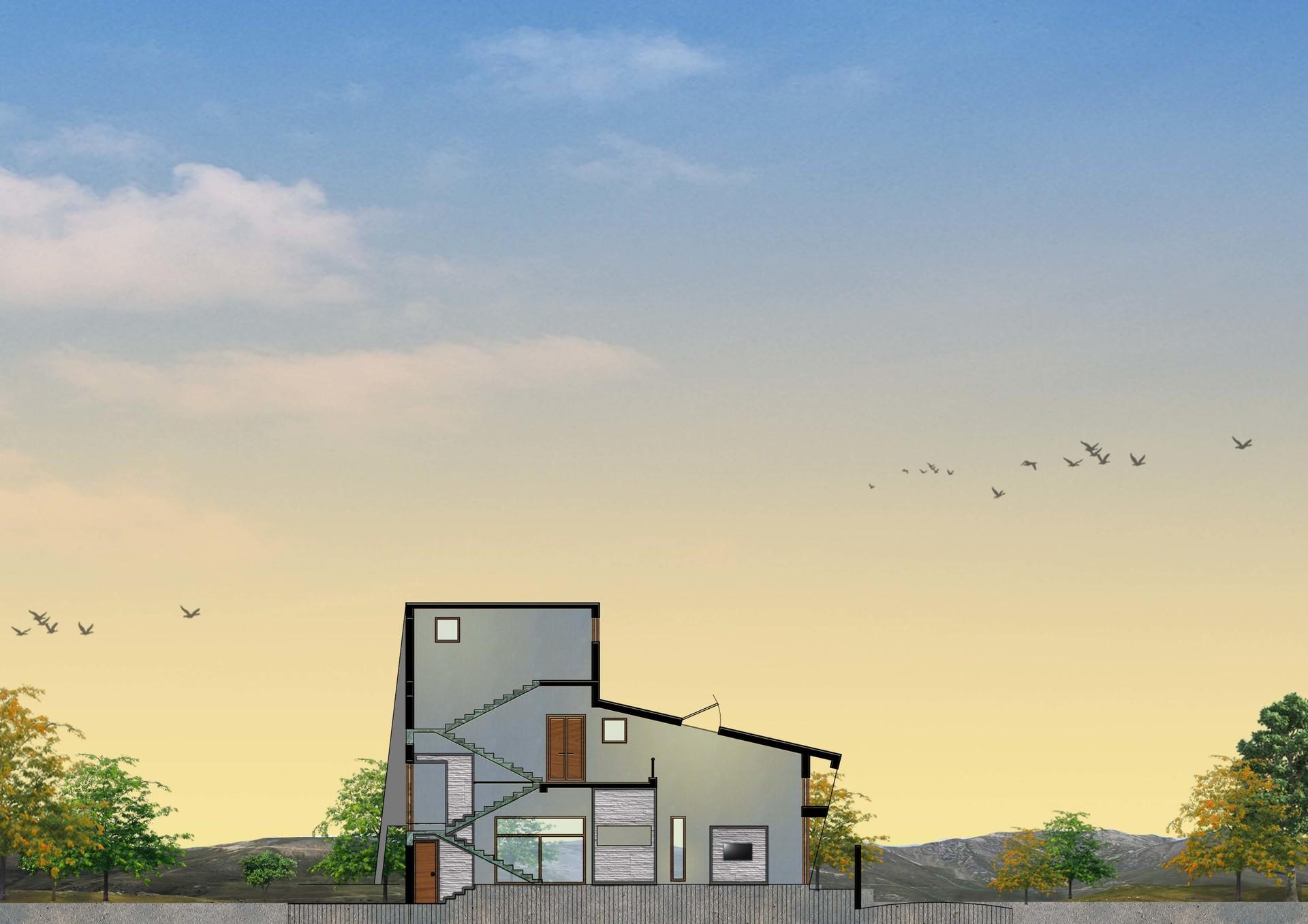 ArtStation - Architecture plan render in Photoshop , Aishwarya Binani