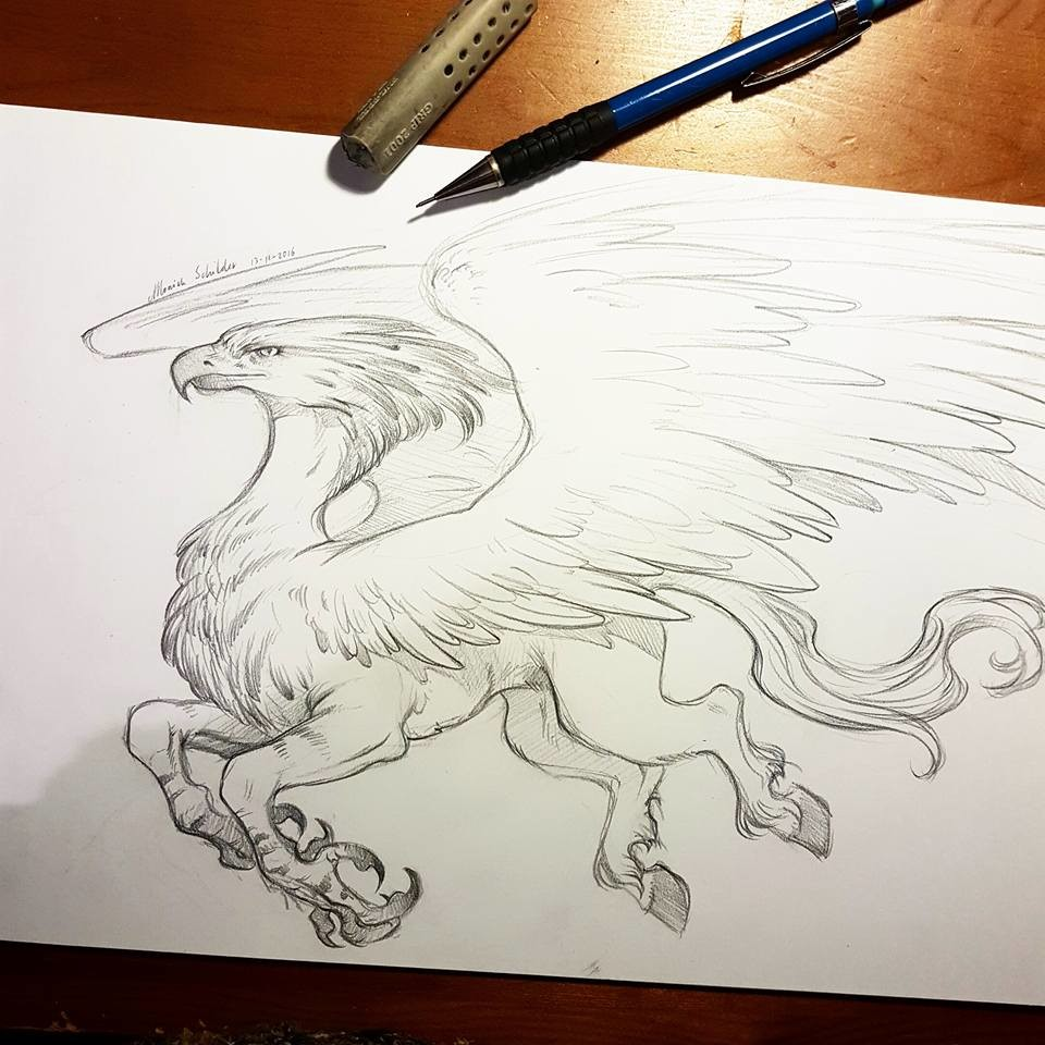 Moniek schilder hippogriff