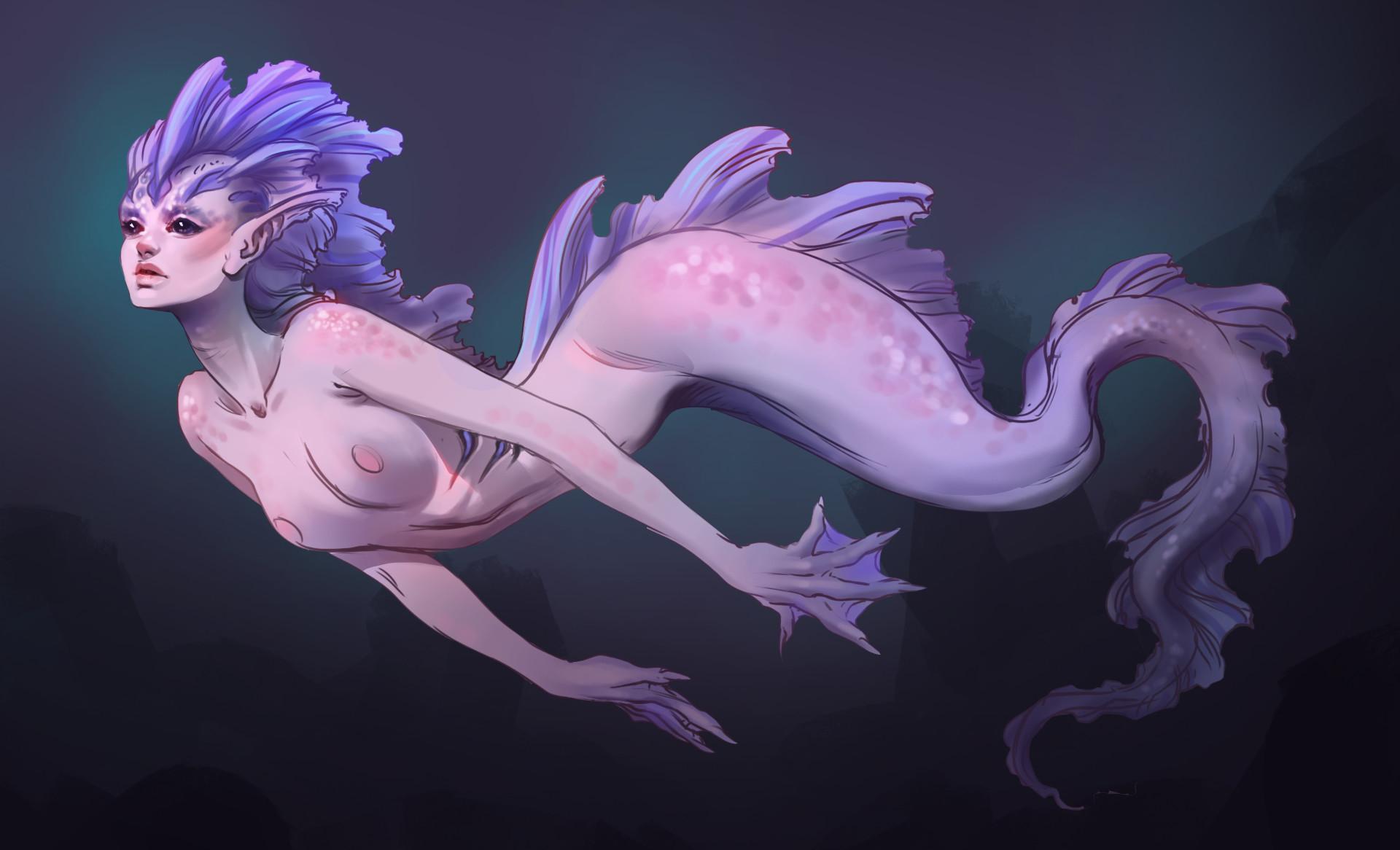 Moniek schilder mermaid
