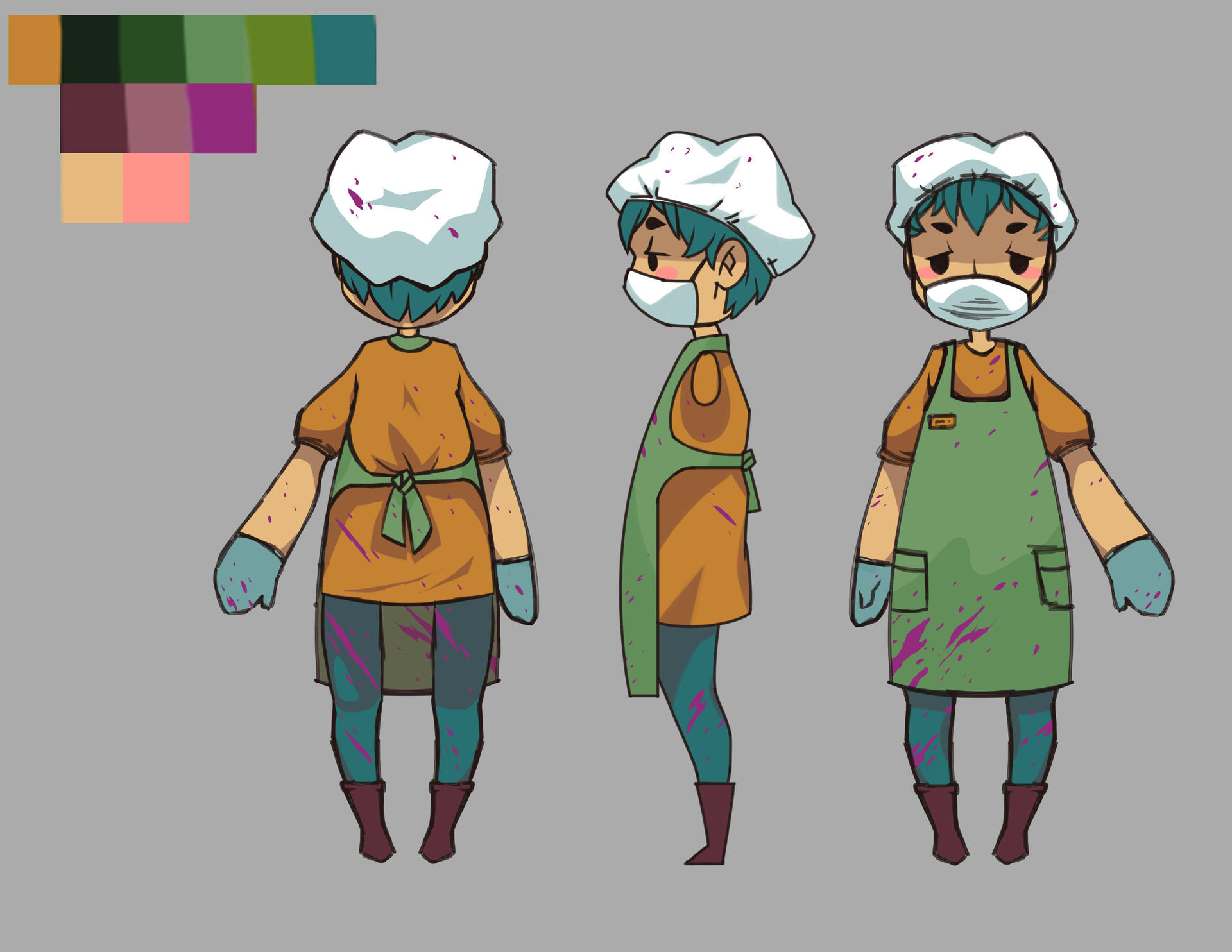Sonja larosa 3d characterconcept turnaround