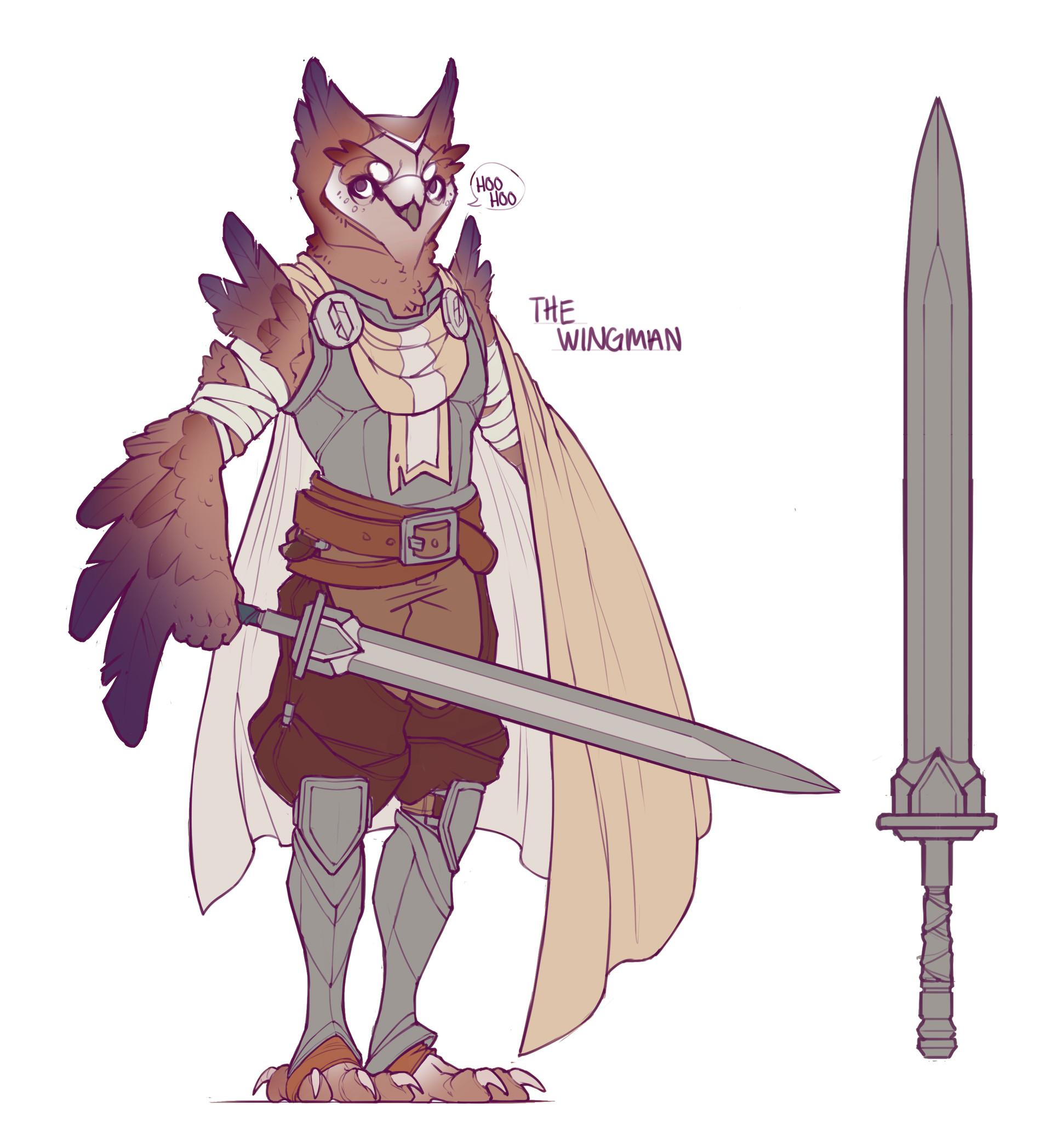 Becca hallstedt owlwarriorsketch1