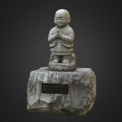 Vlx kuzmin jizo ojizo sama granite statue 2
