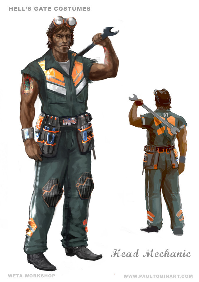 Avatar Hellsgate Mechanic Costume Design