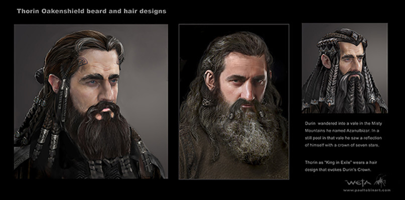 Thorin Beard and Hair designs