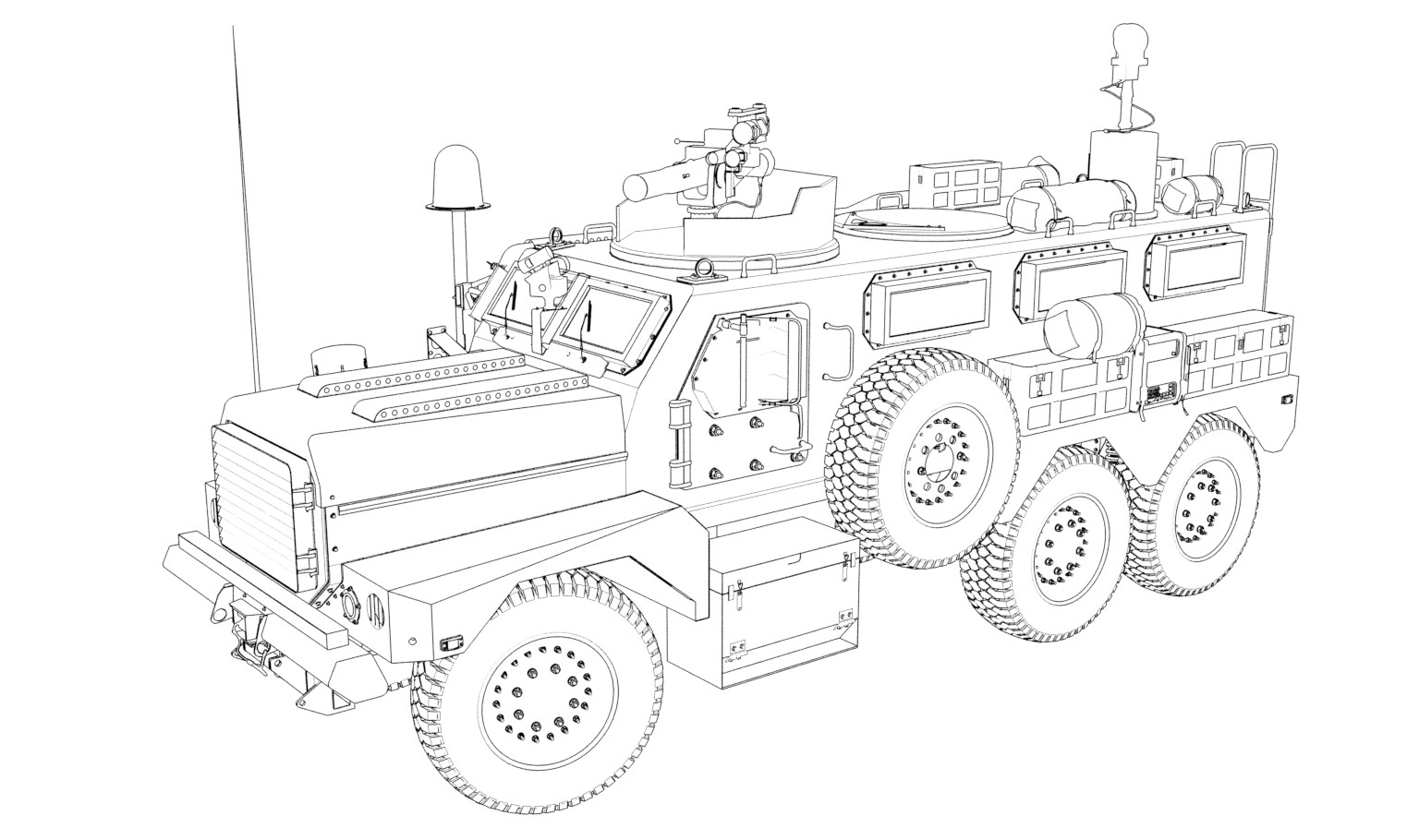 Ben harrison armored vehicle07 ink