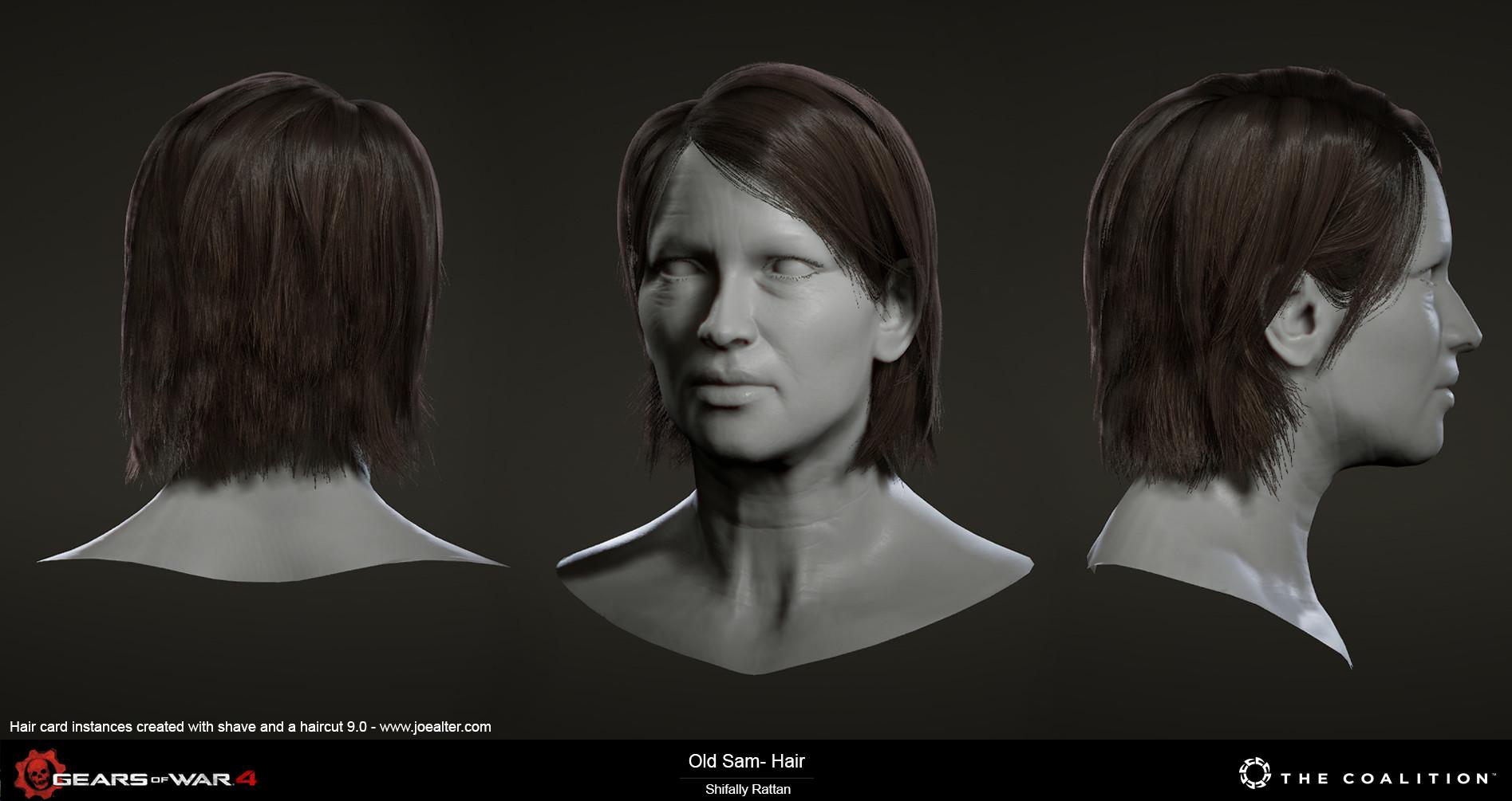 Artstation Gears Of War 4 Hair Shifally Craig
