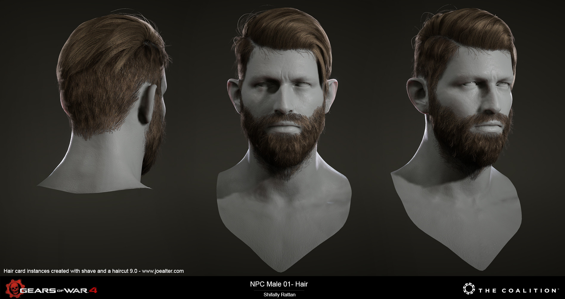 Artstation Gears Of War 4 Hair Shifally Rattan