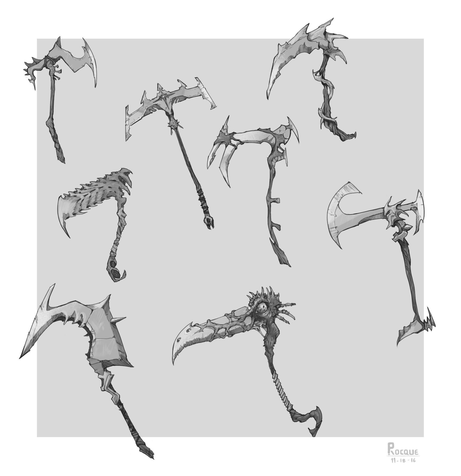 Peter rocque weapons scyth designs