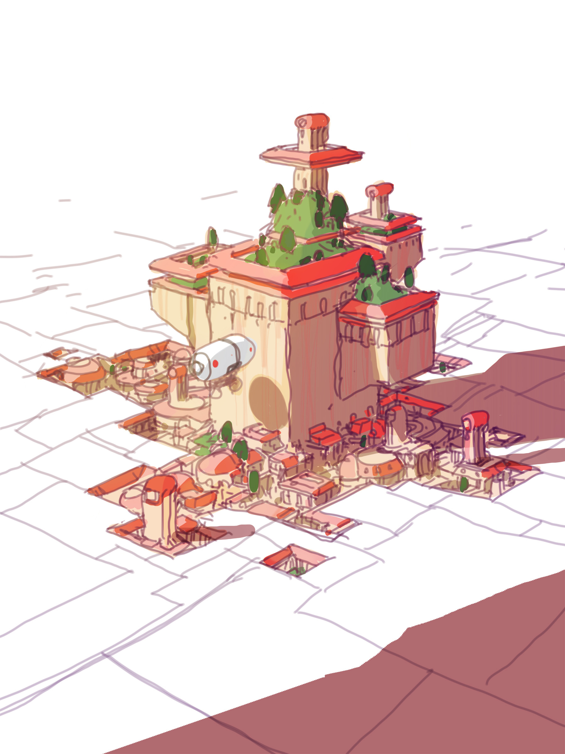 Sparth ville aux toits rouges small