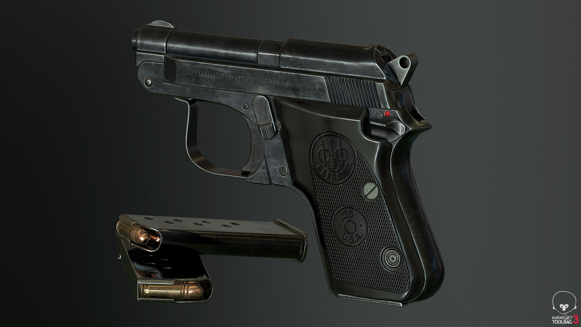 ArtStation - Beretta 950 Jetfire - Low Poly, Donnie Oliver
