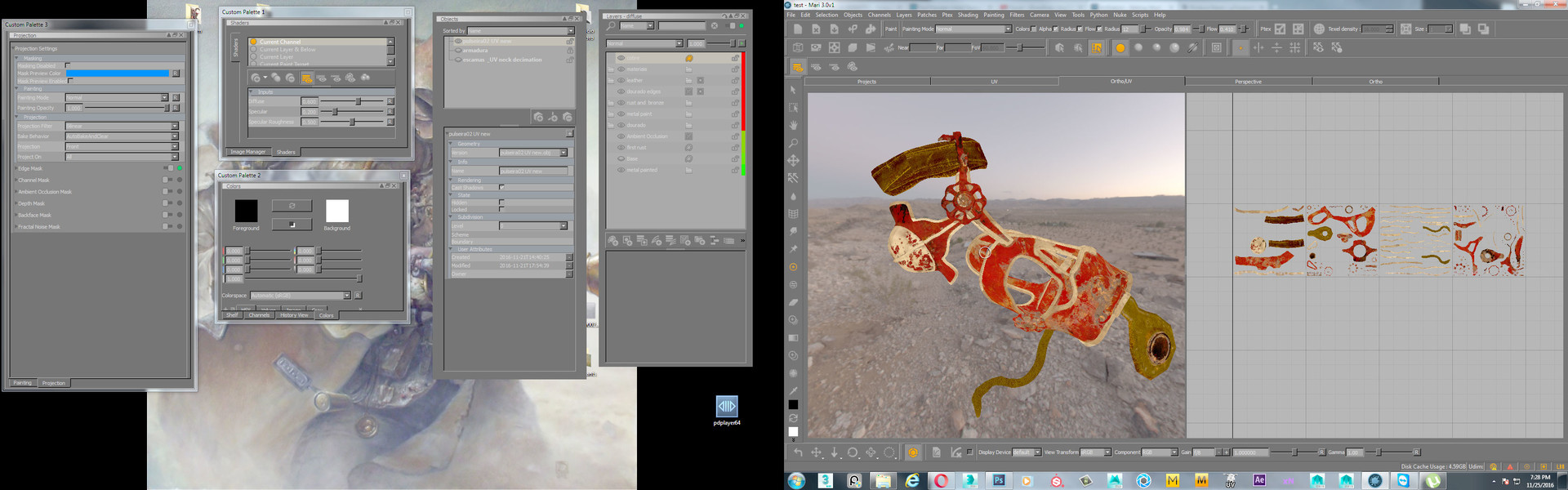 importing the  masks from substance