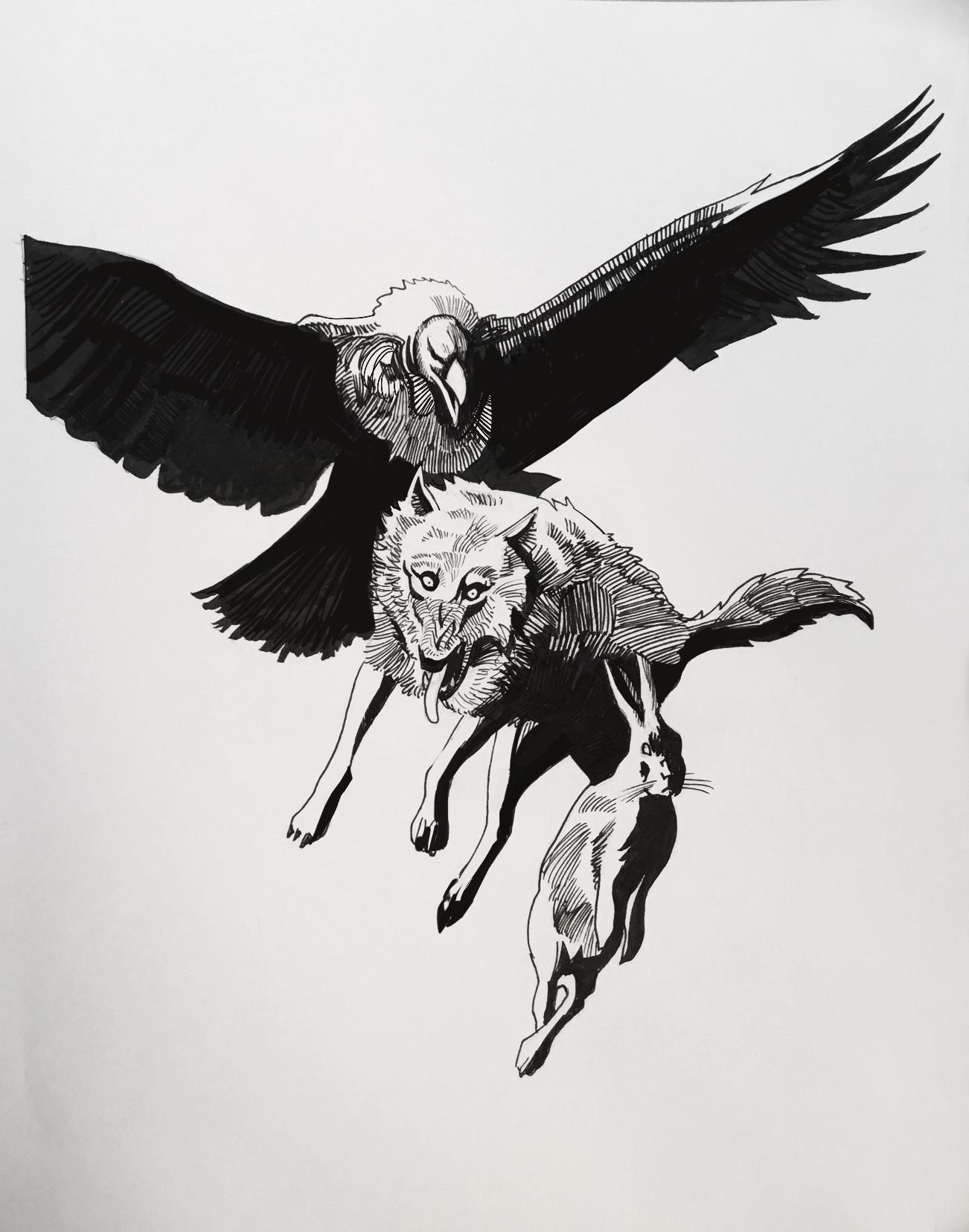 Hugo puzzuoli vautour loup final