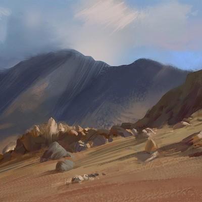 Hugo puzzuoli sketch montagne