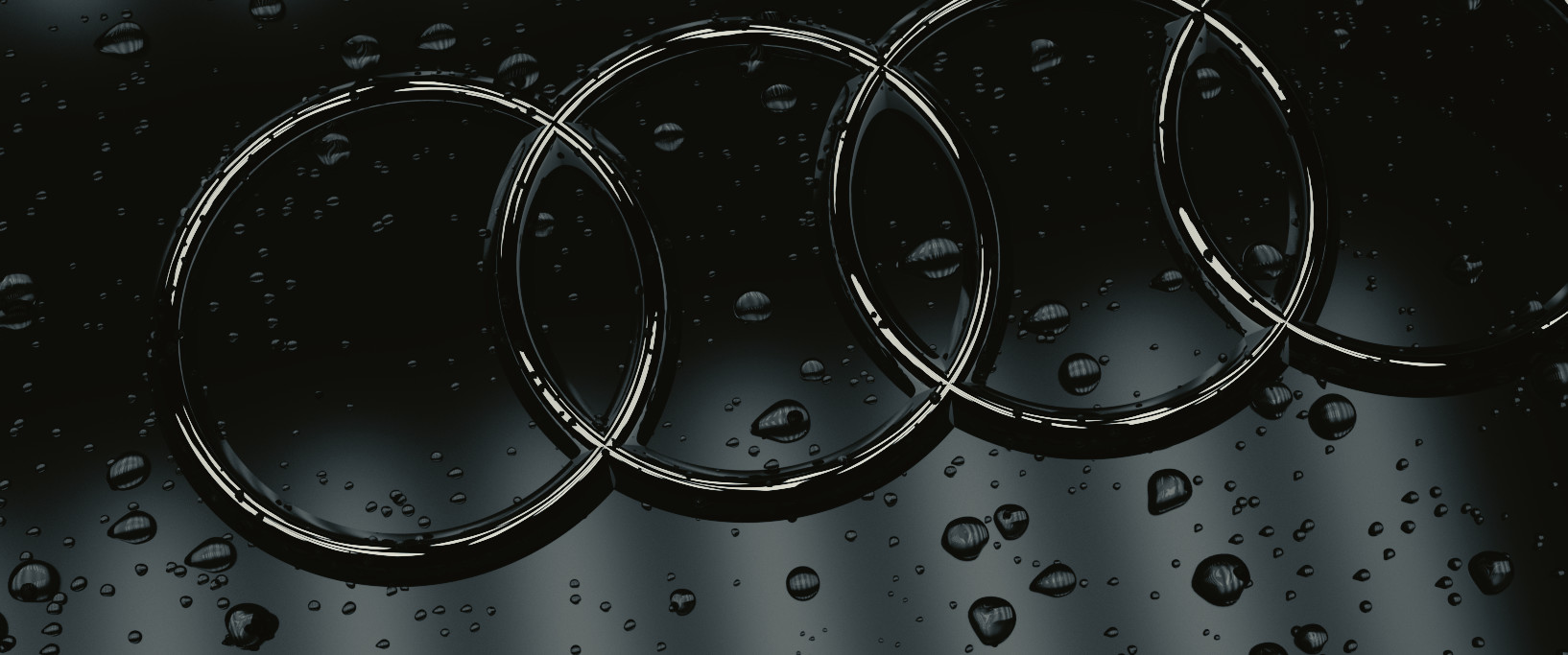 Artstation Audi Logo With Water Drops Jay Tailor