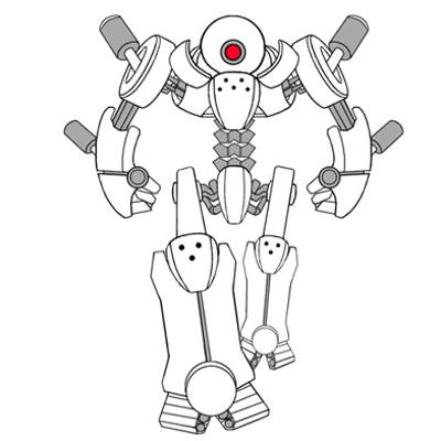 David sanhueza sanhueza droid lineart 01