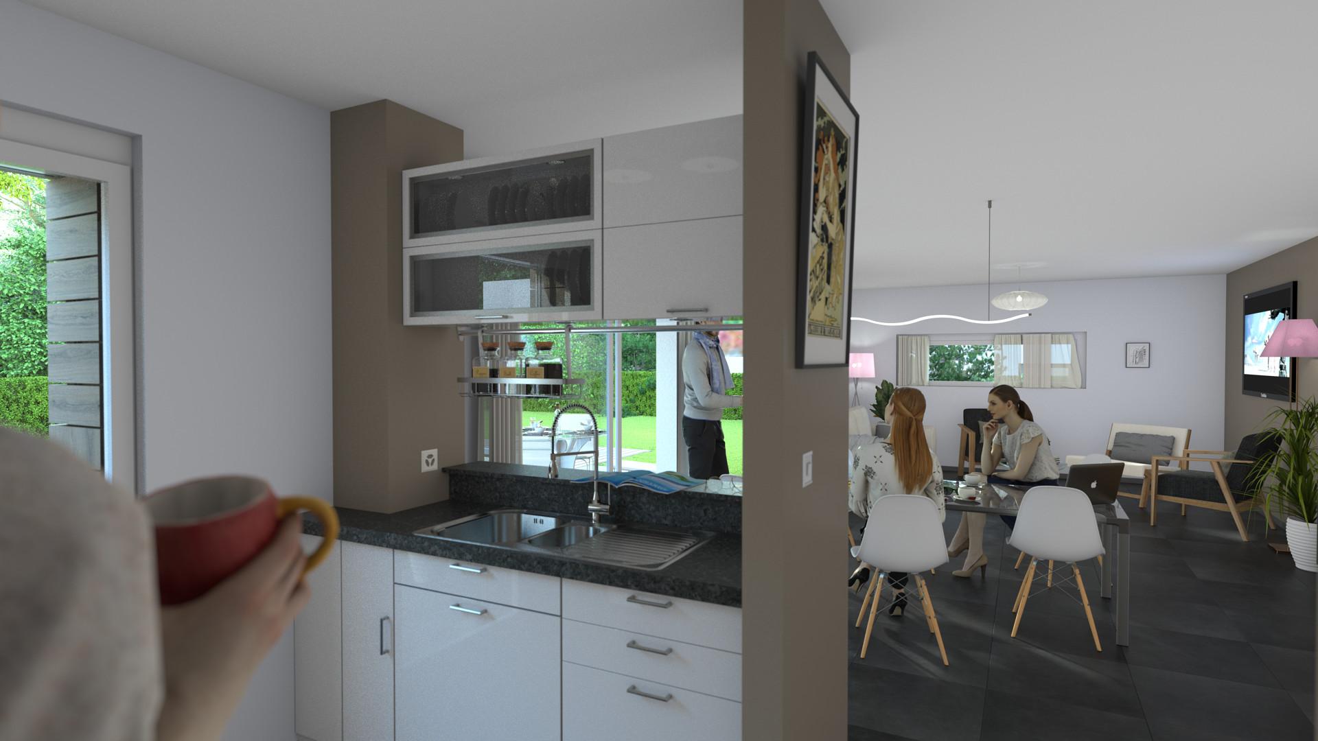 Duane kemp house model test 2 scene 7 kitchen living rm 2pt ao