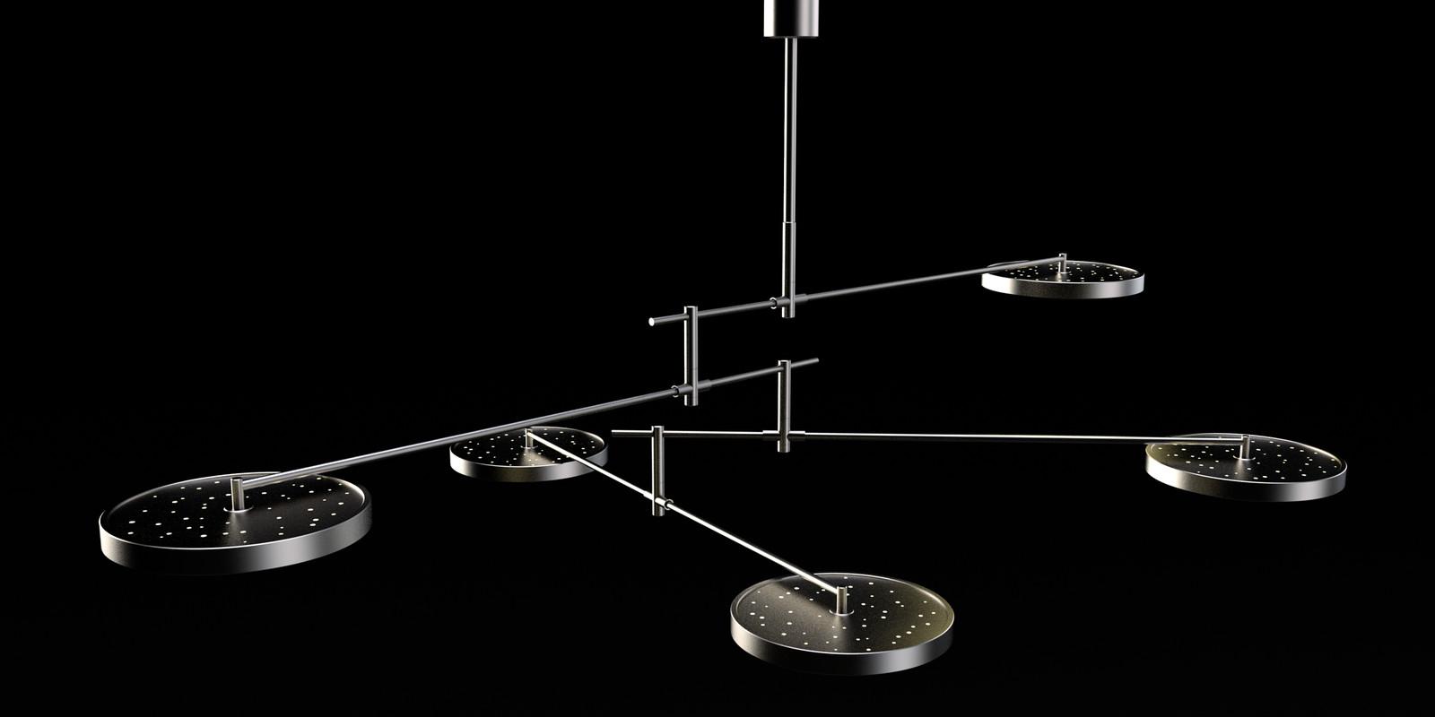 SketchUp + Thea Render Holly Hunt Lamp by DK detail 03