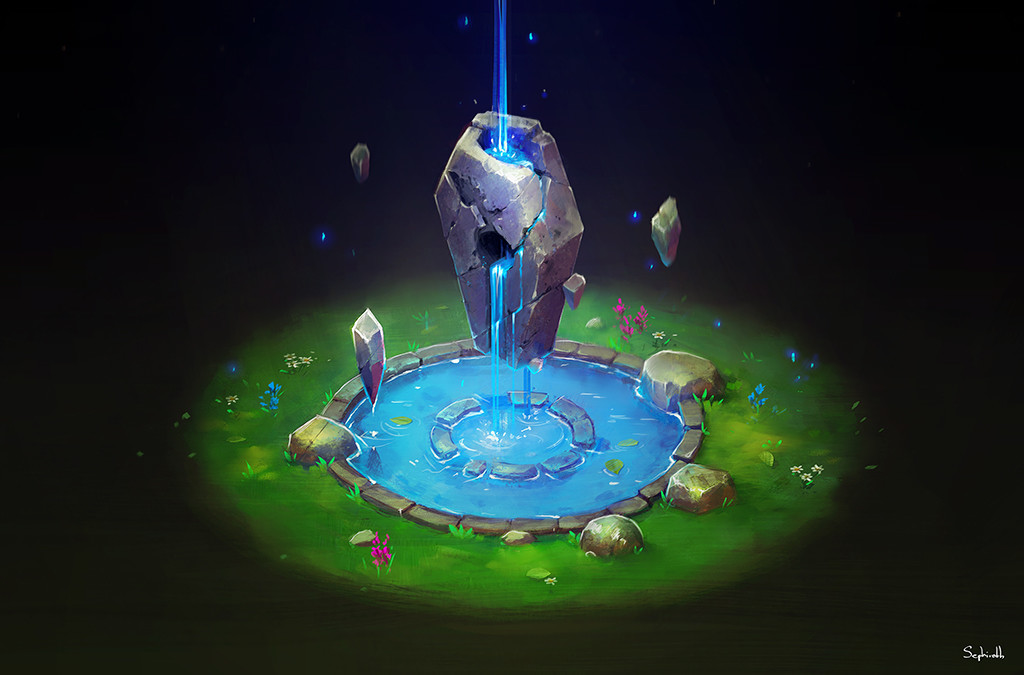 Isometric Ancient Fountain