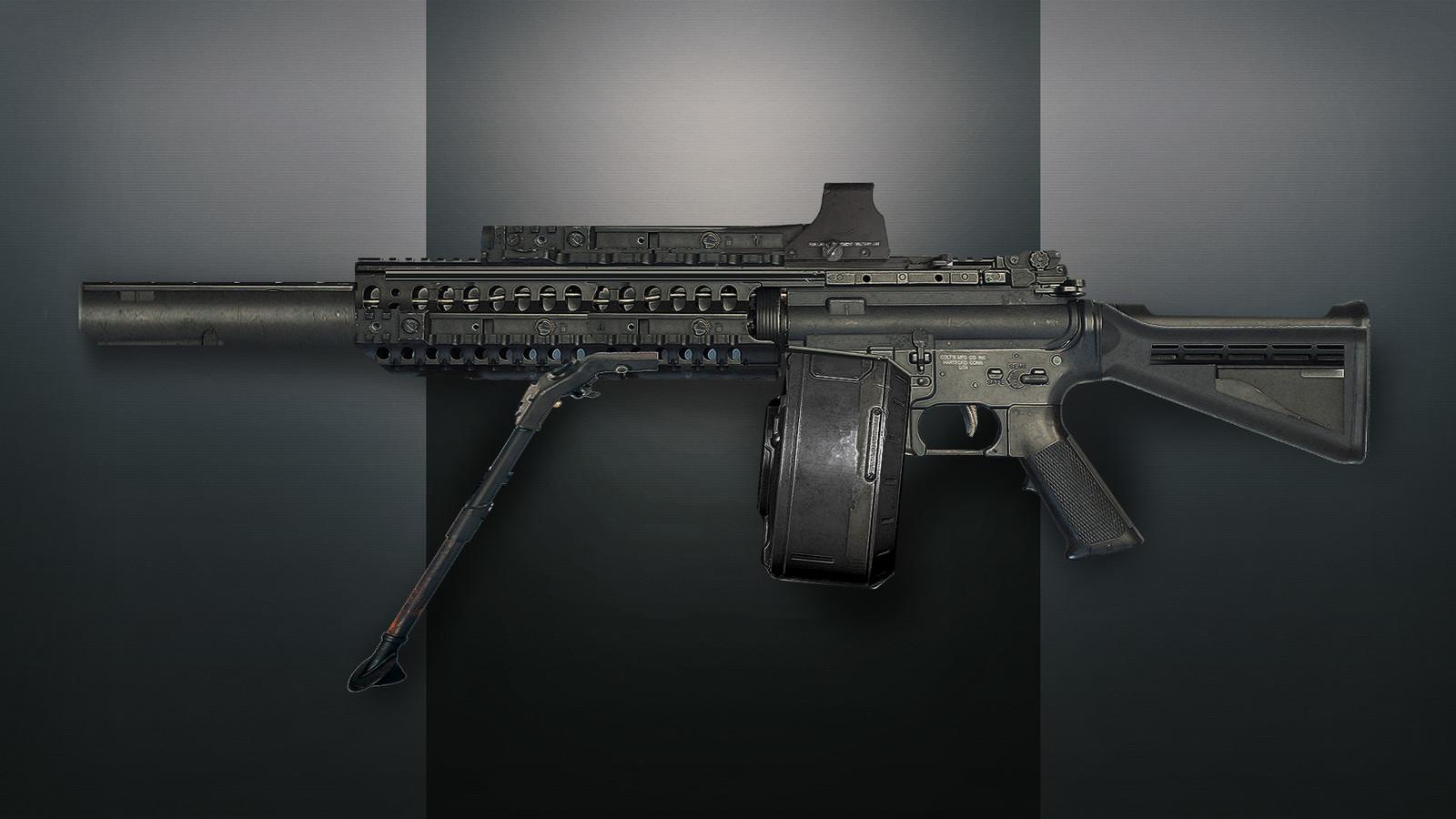 Machine Gun. 3D Concept.