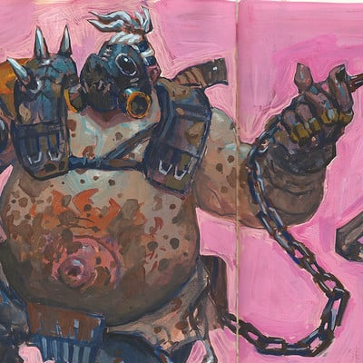 Edward delandre roadhog artstation