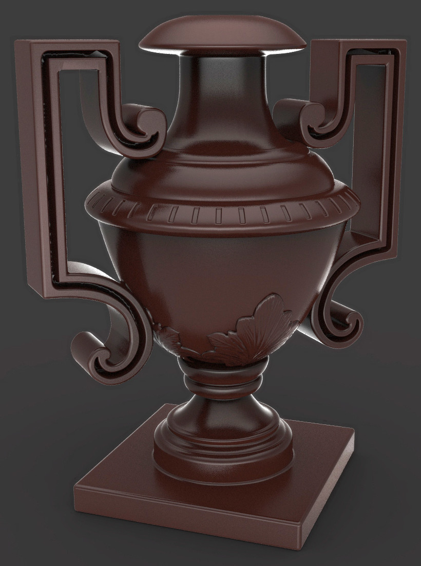 Jeremy roland vase render sample wood
