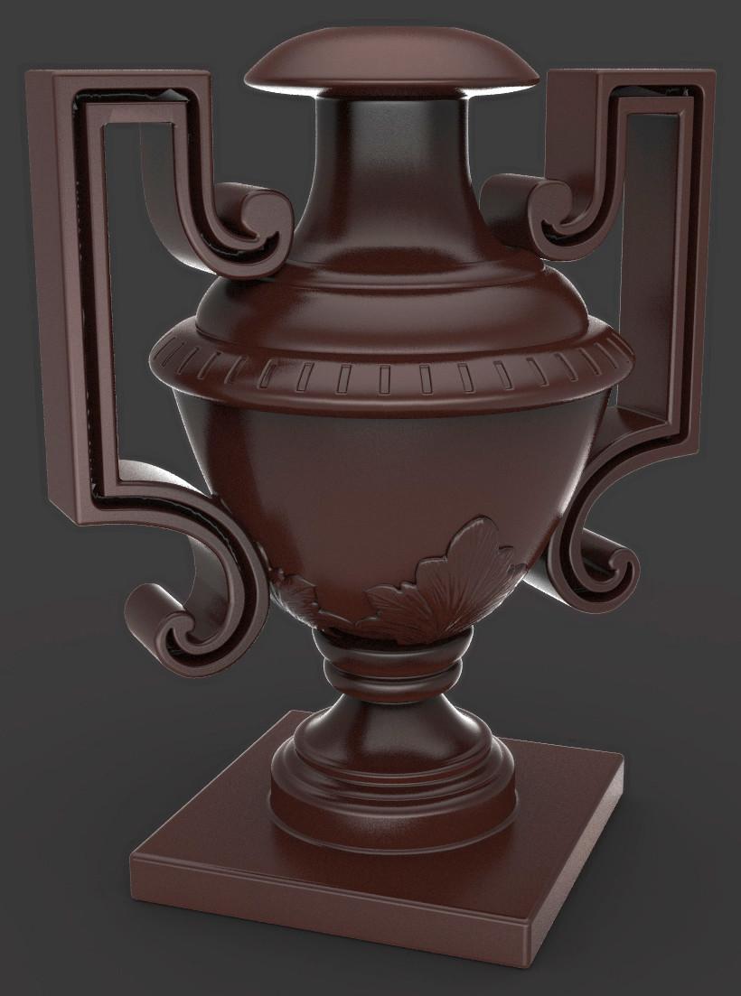 Jeremy roland vase render sample wood