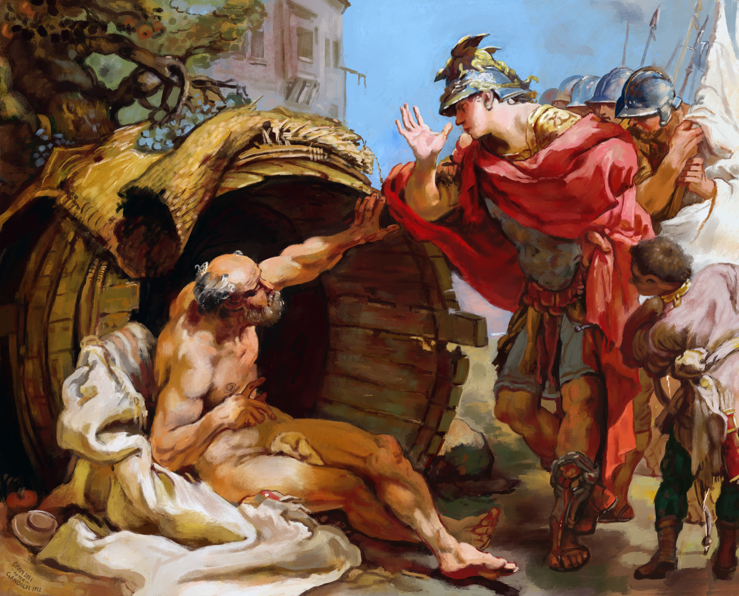 f5e6e0da9bf9 luke oram - Diogenes and Alexander - after Gandolfi