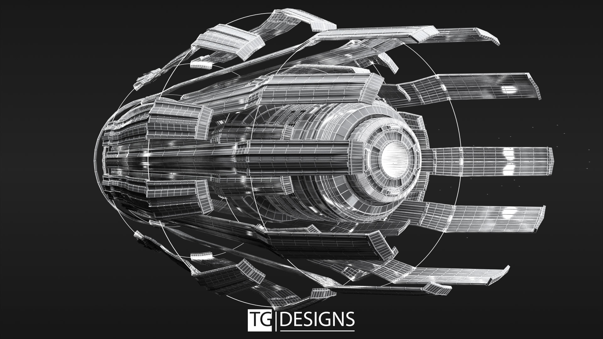 Tyler goll tribescapitalship render front wireframe edit