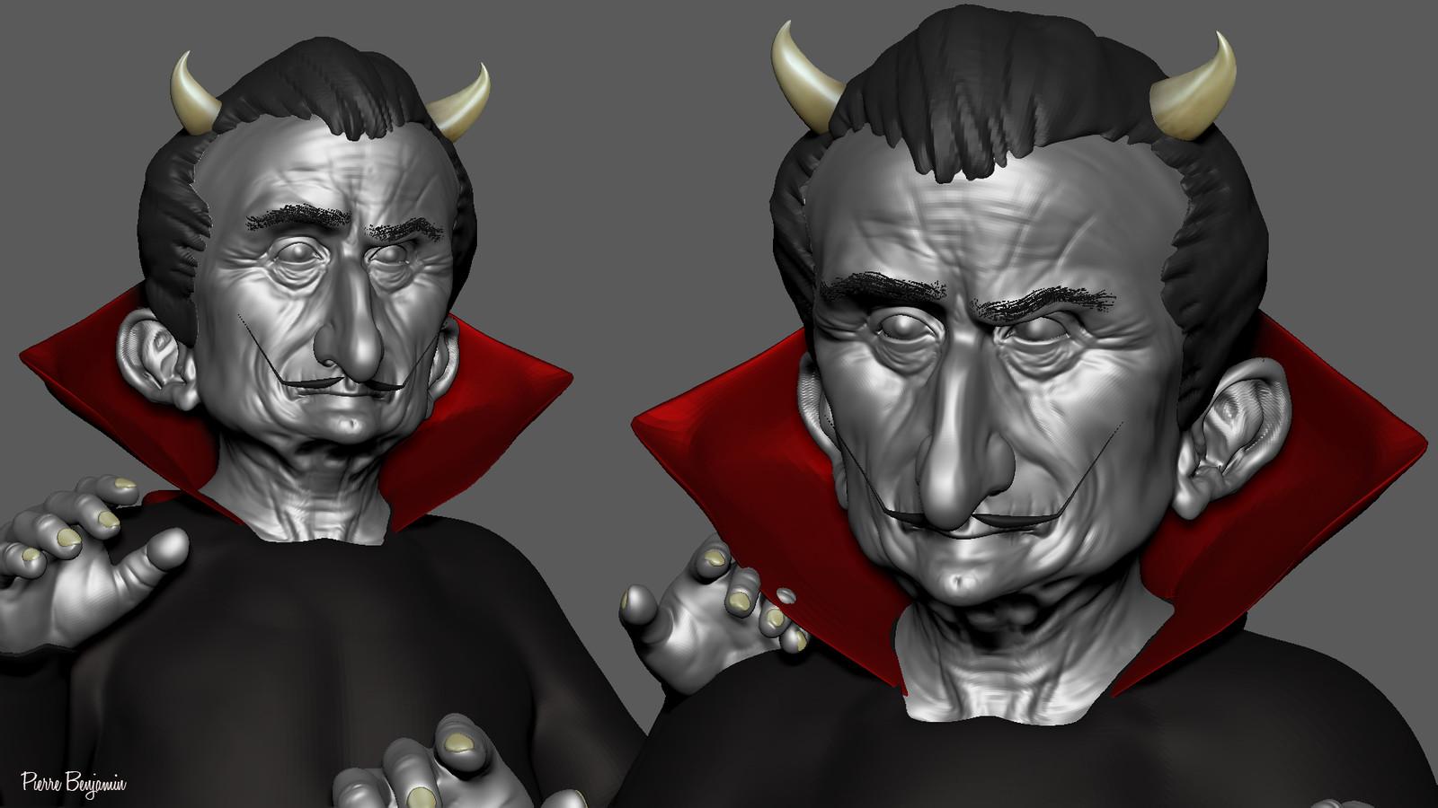 Salvador Dali Devil 3d Sculpt