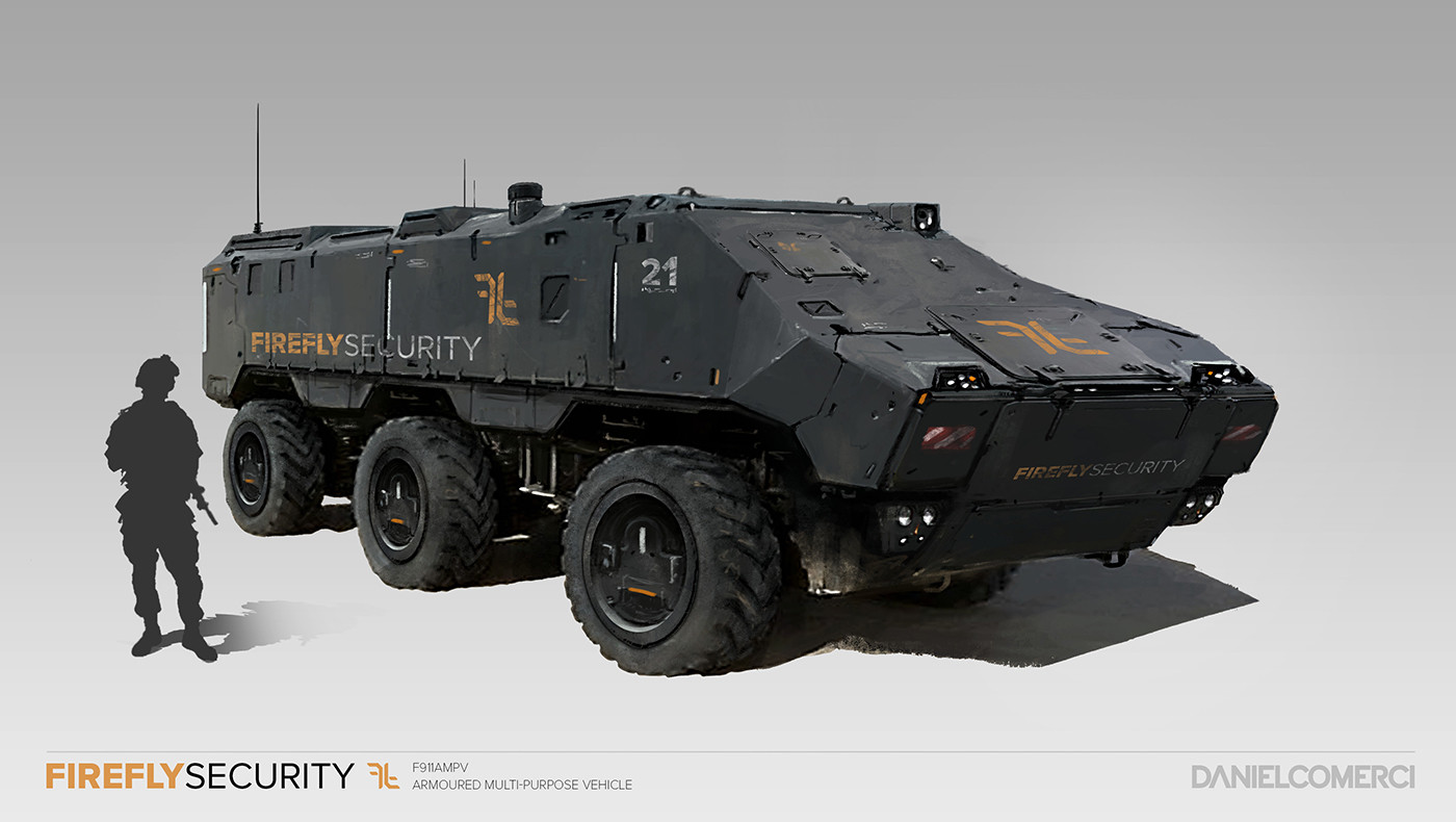 Artstation Firefly Security Vehicle Concepts Daniel