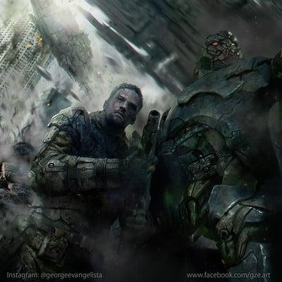 George evangelista soldier and robot