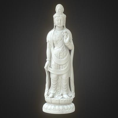 Vlx kuzmin kannon guanyin marble statue