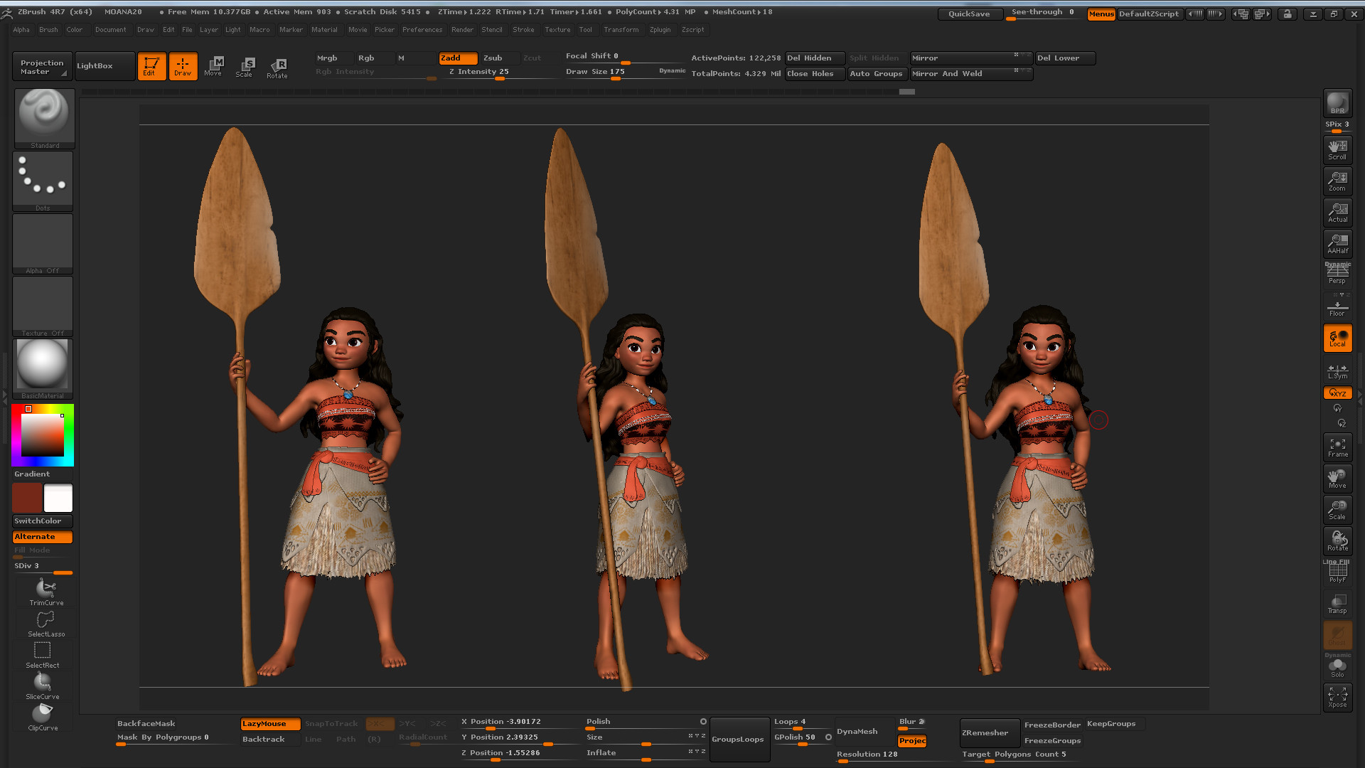 duy thai   moana sculpting practice