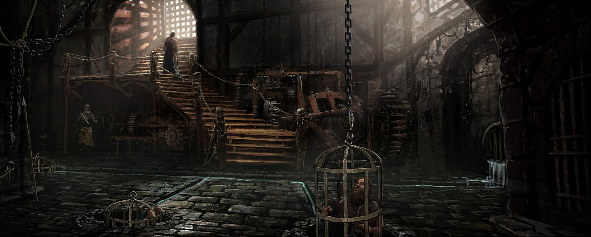 ArtStation - dungeon, lincoln Renall