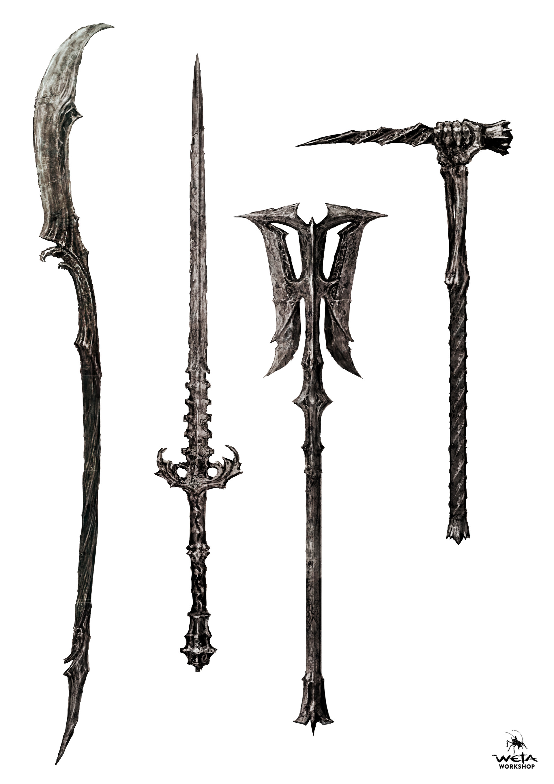 Ringwraith Weapons - Artist: Nick Keller