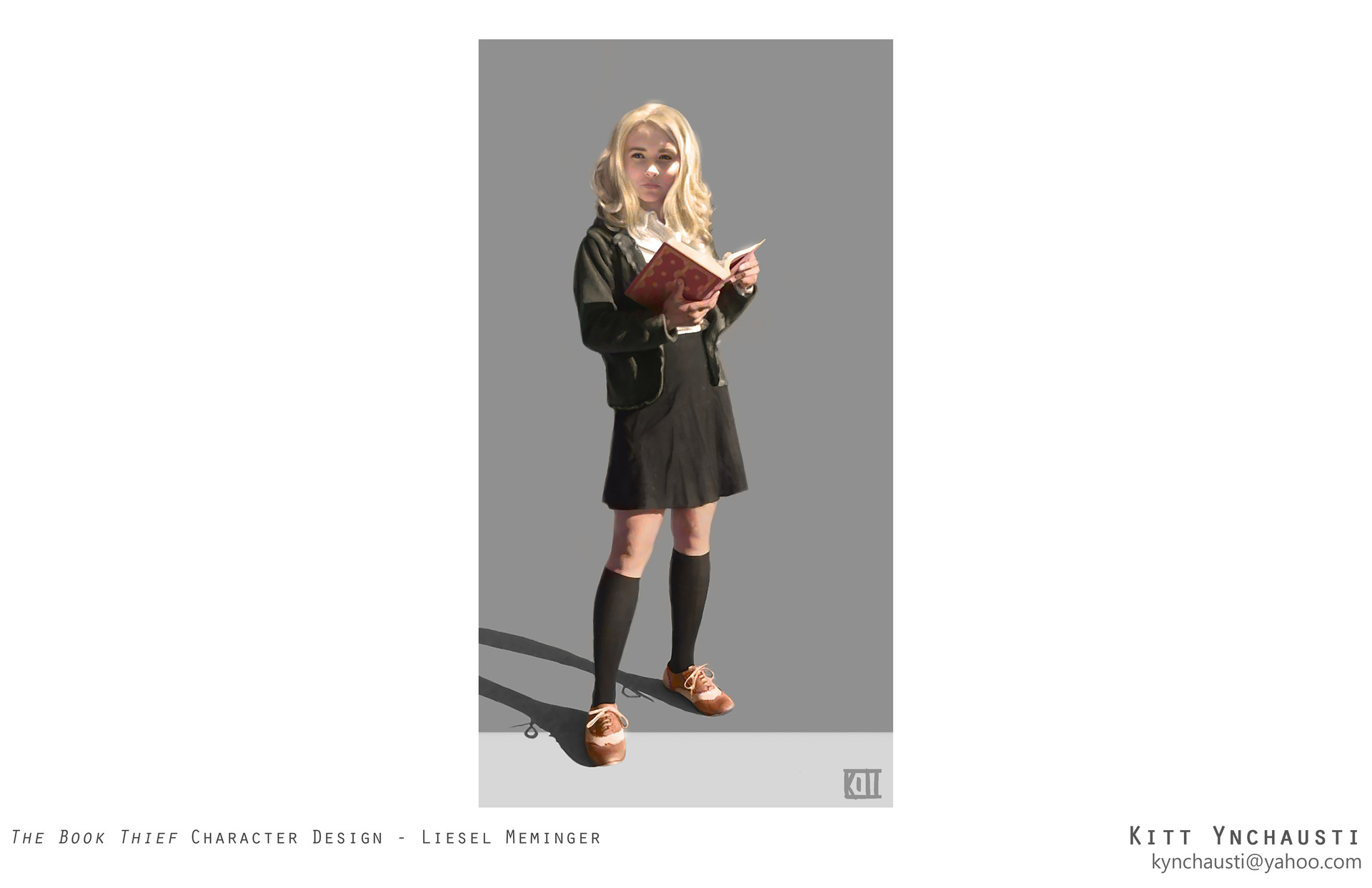 the book thief liesel meminger character design kitt scroll to see more